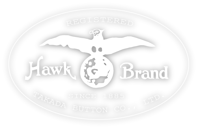registered hawk brand since1885 takada button co. ltd